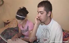 شابين مع بنت مراهقه